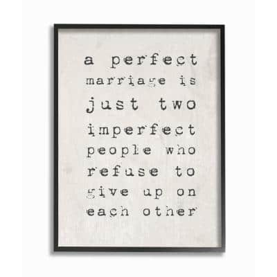 """11 in. x 14 in. """"A Perfect Marriage"""" by Daphne Polselli Wood Framed Wall Art"""