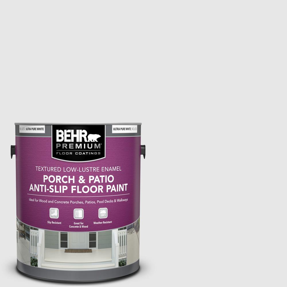 1 gal. #PR-W09 Nimbus Cloud Textured Low-Lustre Enamel Interior/Exterior Porch and Patio Anti-Slip Floor Paint