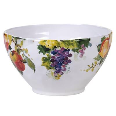 Ambrosia 9 in. Multicolored Deep Bowl