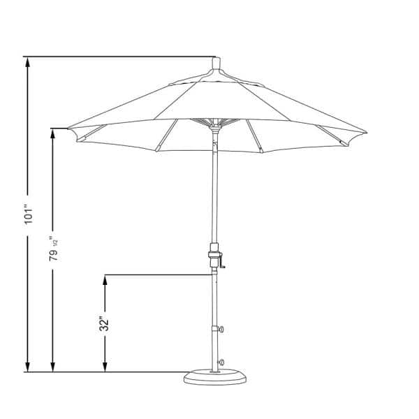 California Umbrella 9 Ft Fiberglass Collar Tilt Patio Umbrella In Natural Pacifica Gscuf908117 Sa04 The Home Depot