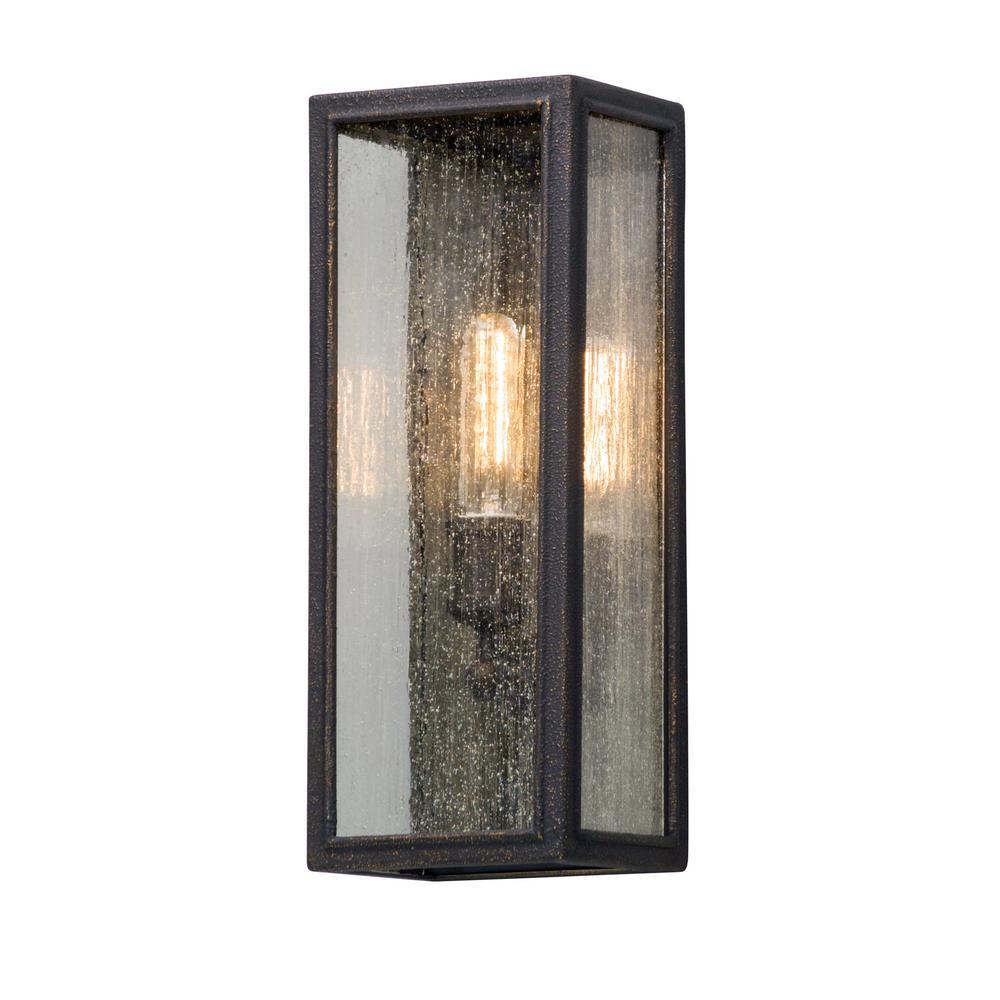 Dixon 1-Light Vintage Bronze Outdoor Wall Lantern Sconce