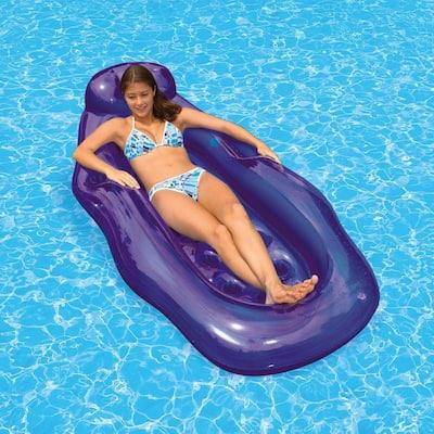 Purple Riviera Wet/Dry Sun Swimming Pool Float Lounge