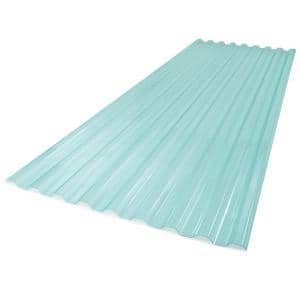 26 in. x 6 ft. Polycarbonate Roof Panel in Sea Green