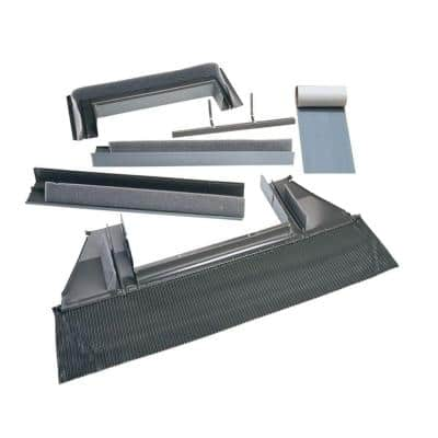 3030, 3046 High-Profile Tile Roof Flashing with Adhesive Underlayment for Curb Mount Skylight
