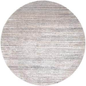 Durant Taupe 5 ft. 3 in. Round Area Rug