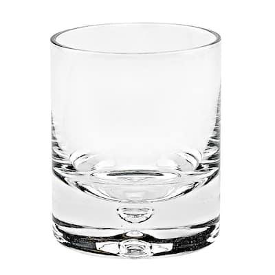 6 oz. Galaxy Single Old Fashioned Rocks Lead Free Crystal Scotch Glass (4-Piece Set)