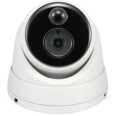 Wired 4K White Dome Camera w Audio and True Detect Motion Sensor