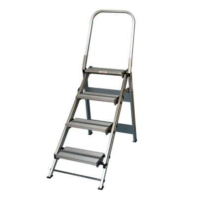 4 Step Aluminum Step Ladder 375 lb. Load Capacity Type IAA Duty Rating
