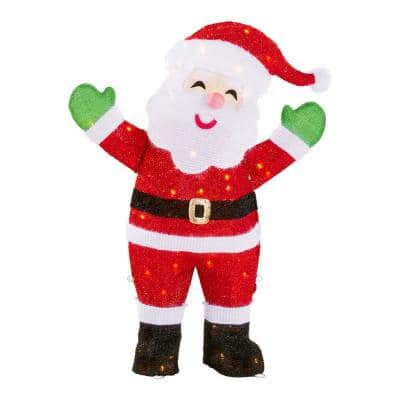 3 ft Yuletide Lane LED Tinsel Santa