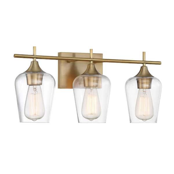 Filament Design 3 Light Warm Brass Bath Light Cli Sh266935 The Home Depot