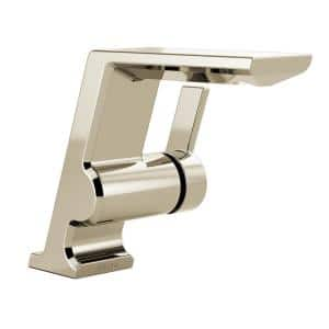 Pivotal Single Hole Single-Handle Bathroom Faucet in Polished Nickel