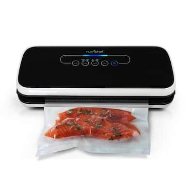 Automatic Food Vacuum Sealer Black Electric Air Sealing Preserver System