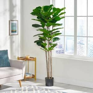 Sherard 6 ft. Green Artificial Fiddle-Leaf Fig Tree