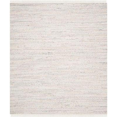 Rag Rug Ivory/Multi 9 ft. x 12 ft. Gradient Striped Area Rug