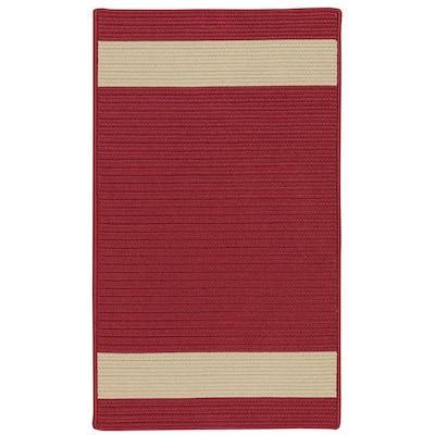 Aurora Red Sand 6 ft. x 9 ft. Stripe Indoor/Outdoor Area Rug