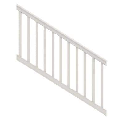 Bella Premier Series 6 ft. x 36 in. White PolyComposite Stair Rail Kit with Square Balusters
