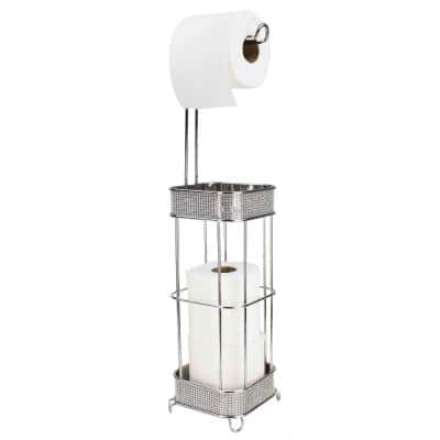 Diamond Collection Toilet Paper Holder in Chrome