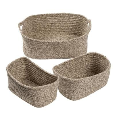 1 Gal. Cotton Storage Bin in Tan (3-Pack)