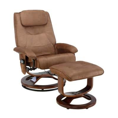 Deluxe Chocolate Padded Microfiber Massage Recliner