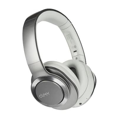 Flow II Wireless Hybrid Noise-Canceling Bluetooth Headphones with Google Assistant in Light Metallic