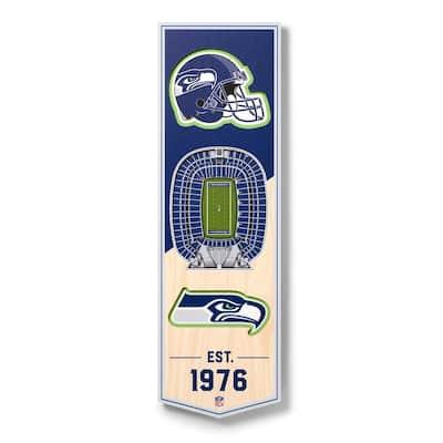 NFL Seattle Seahawks 6 in. x 19 in. 3D Stadium Banner-CenturyLink Field