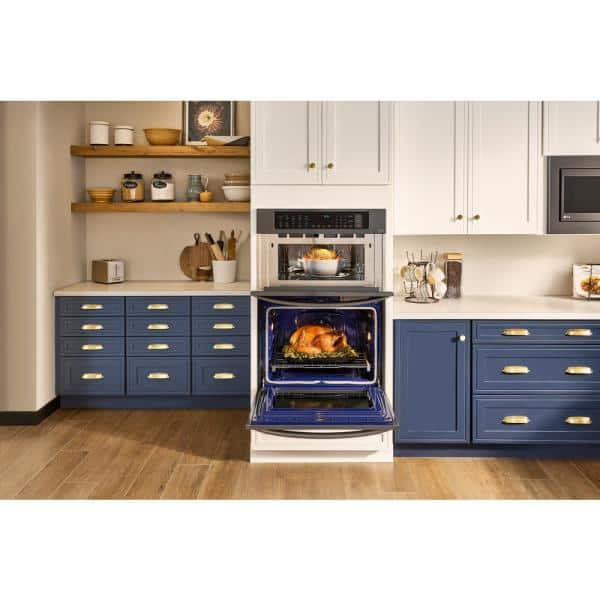 Lg Electronics 30 In Combination Double Electric Smart Wall Oven W Convection Easyclean Built Microwave Black Stainless Steel Lwc3063bd The Home Depot