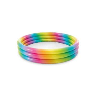 Rainbow Ombre 66 in. Round 15 in. D Kiddie Pool