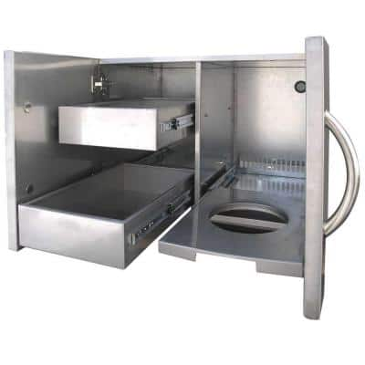 Outdoor Kitchen 30 in. Stainless Steel Door and Drawer Combo