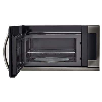 2.2 cu. ft. Over the Range Microwave in Black Stainless Steel with EasyClean, Sensor Cook and ExtendaVent