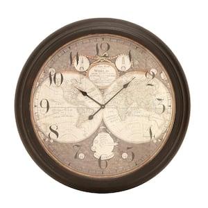 Brown Metal Vintage Wall Clock