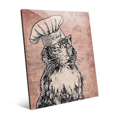 Chef Cat Unframed Acrylic Wall Art Print 24 in. x 20 in.