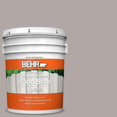 5 gal. #N140-3 Metropolis Solid Color House and Fence Exterior Wood Stain