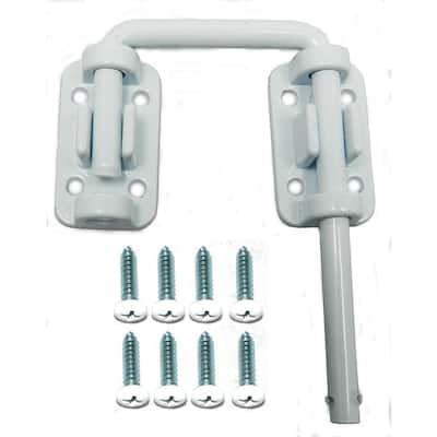 2 in. Patio Door Security Latch, White