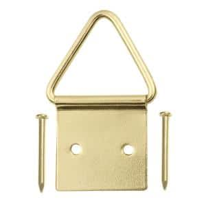 20 lb. Brass-Plated Ring Picture Hangers (2-Pack)