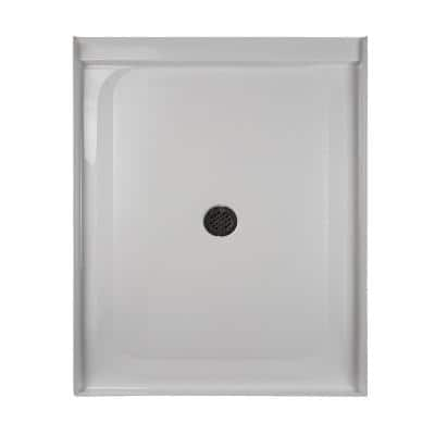 36 in. x 48 in. Center Drain 3.19 in. Shower Base in White