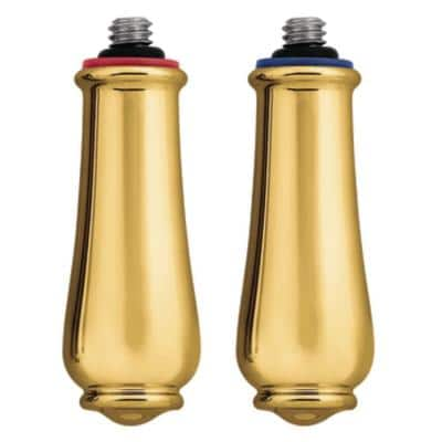 Pair of Monticello Replacement Lever Handles in Polished Brass