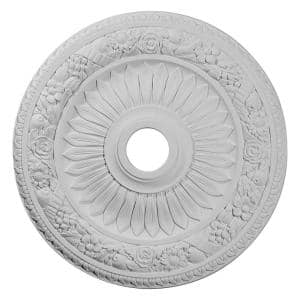 23-5/8'' x 3-5/8'' ID x 1-1/8'' Bellona Urethane Ceiling Medallion (Fits Canopies upto 3-5/8''), Primed White