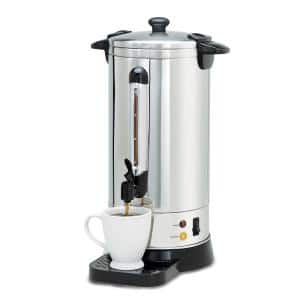 50-Cup Stainless Steel Insulated Coffee Urn with Drip Tray