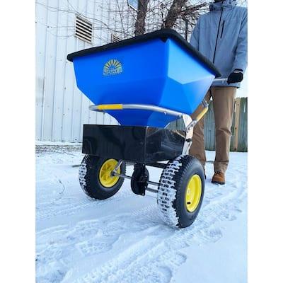 150 lbs. Capacity Ice Melt and Salt Spreader with Deflector