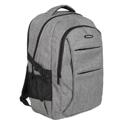 18 in. Grey Business Pro USB Laptop Backpack