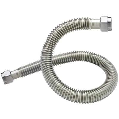 3/4 in. FIP x 3/4 in. FIP x 24 in. Coated Stainless Steel Water Heater Connector 3/4 in. I.D.