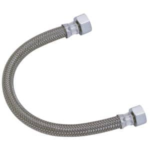 1/2 in. Compression x 1/2 in. FIP x 16 in. Braided Polymer Faucet Connector