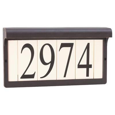 Antique Bronze Powdercoat Aluminum Address Sign Light Fixture