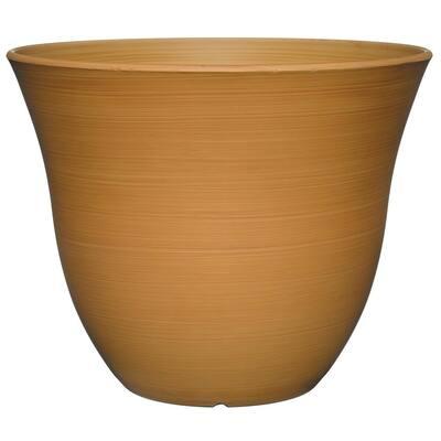 Honeysuckle 15 in. Bamboo Resin Planter