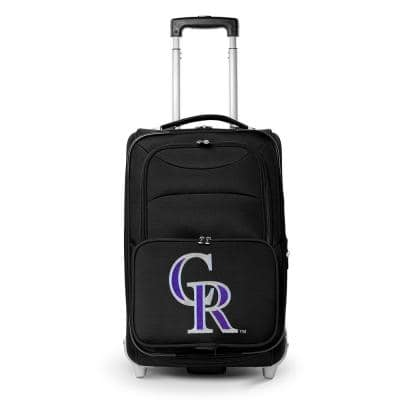 MLB Colorado Rockies  21 in. Black Carry-On Rolling Softside Suitcase