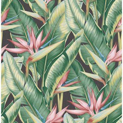 Arcadia Pink Banana Leaf Pink Wallpaper Sample