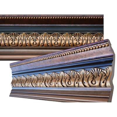 8-5/8 in. F x 5-3/8 in. H x 6-3/4 in. P x 94-1/2 in. L Polyurethane Hand Painted Crown Moulding