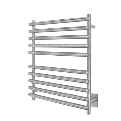 Rome 10-Bars Hardwired 120-Volt 31 in. Towel Warmer in Brushed Stainless Steel