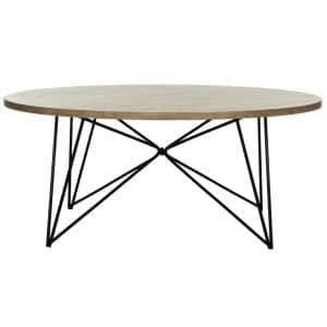 Maris 34 in. Light Brown Medium Round Wood Coffee Table