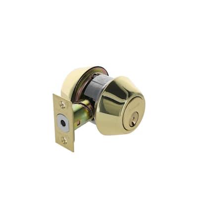 1600 Grade-2 US3 Bright Brass Double Cylinder Deadbolt